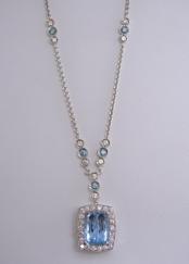 Aqua and Blue Diamond
