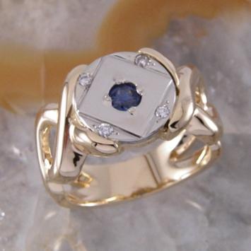 Besser Sapphire Diamond Ring