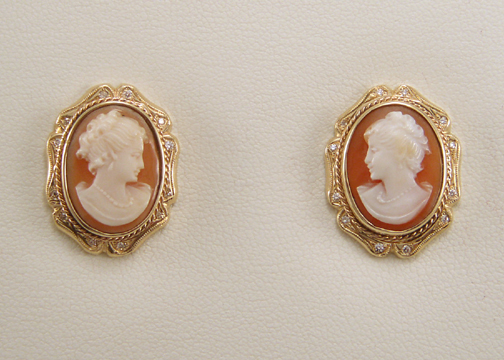 The Cameo Earrings