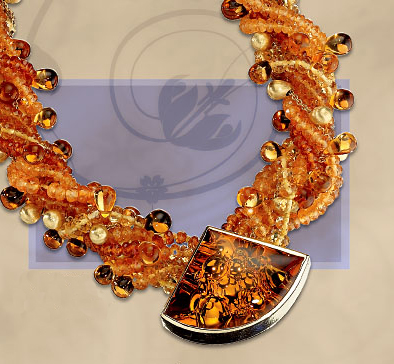 Citrine Bubble Necklace