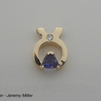 Ice Tongs Tanzanite Pendant