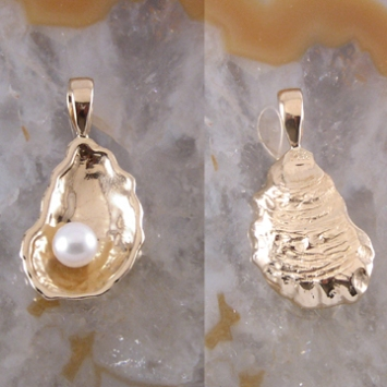 Oyster with Pearl Pendant