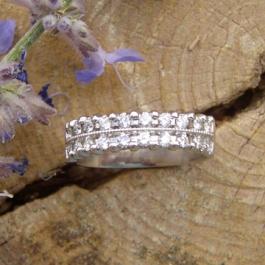 Platinum Bridal 2-rows