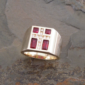 Ruby Cross Ring
