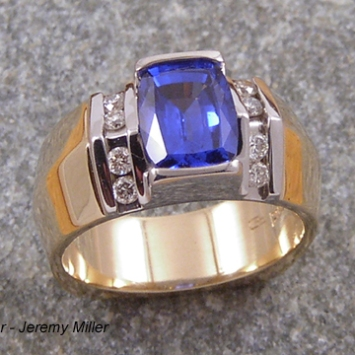 Sapphire Gent's Ring